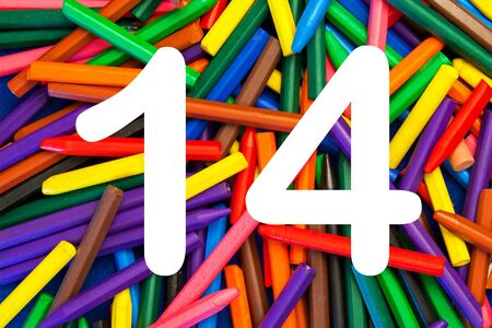 number 14: 14 - numbers for kids