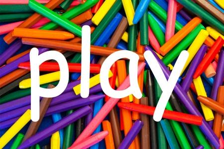 teaching crayons: Pastelli a cera con il gioco in forma scritta per le scuole, l'istruzione, l'insegnamento