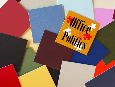 office politics:  Office Politics  - Business or Office Sign  Stock Photo