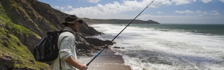 Fisherman at Home in the Landscape - Panorama photo