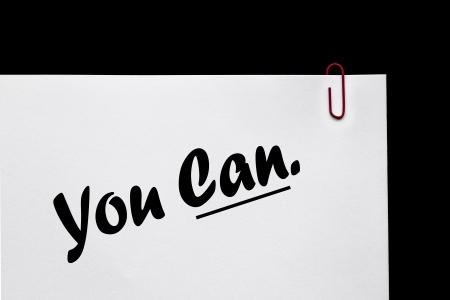 Business Sign for Attitude - You Can - Positive Mentoring   Coaching