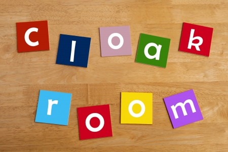 cloak room - sign in letters for school children - education   learning  photo