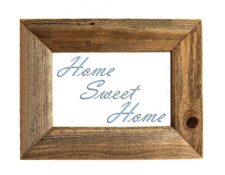 Home Sweet Home Picture Frame - Blue - Isolated on White