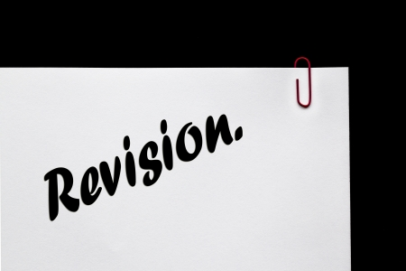 revision: Revision in letters and writing - for Education  Stock Photo
