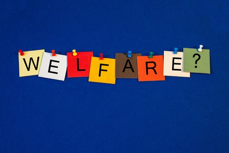 Welfare - sign   issues for social care  Stock Photo