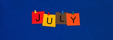 July - calendar and month series