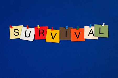 business survival: Survival - sign series for business terms  Stock Photo