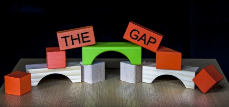 Bridging the Gap - business, education, meeting, PR, politics - compromise, heal or diplomacy