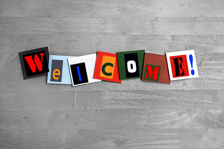 Welcome - art design   sign