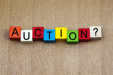 Auction - business terms sign series Stock Photo - 22489648