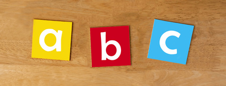 a b c - sign series for school children - panorama photo