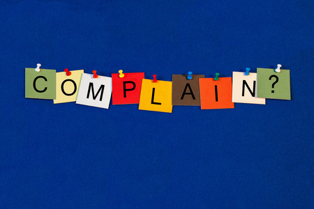 complain: Complain - Business Sign Series Stock Photo