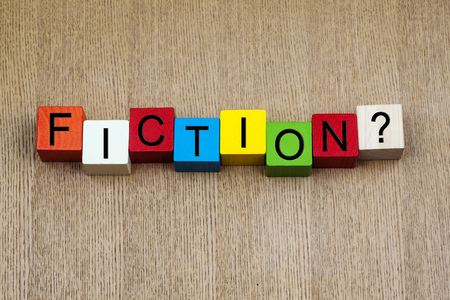 Fiction - education   science terms sign series Stock Photo