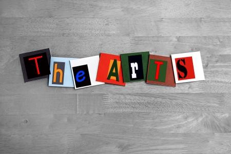 pastiche: The Arts - art design   sign Stock Photo