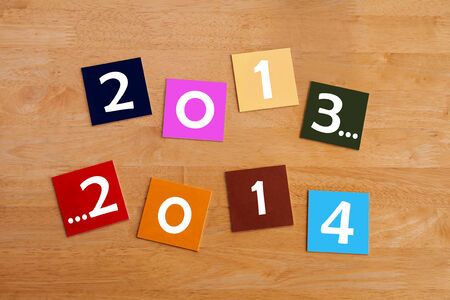 new year s eve: 2013 to 2014  -  sign for a Happy New Year and New Year s Eve Stock Photo