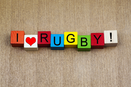 I Love Rugby - sign for rugby football photo