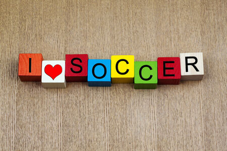 spectating: I Love Soccer - sign for soccer   football - playing, particpating, spectating