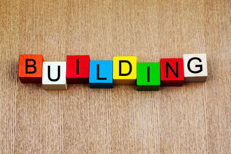Building - sign for construction, architecture or business themee, growth photo