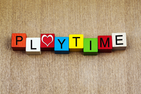 Playtime - sign for education, fun, holidays and vacations photo