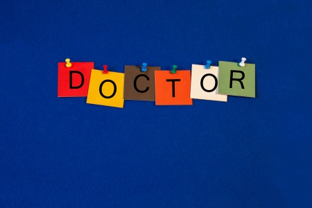 Doctor -  sign for science, biology and medical health care Stock Photo - 23447258