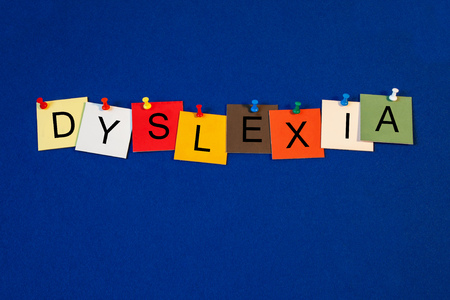 processing speed: Dyslexia - sign series for medical health care