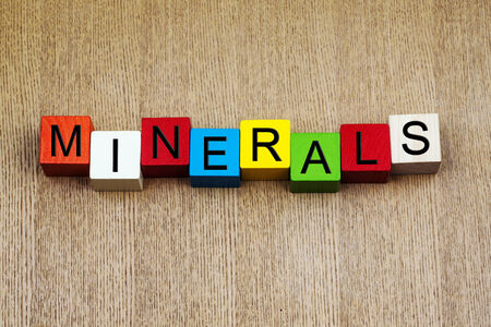 Minerals - sign series for medical health care, education and geology