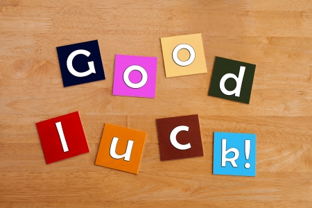 best wishes: Good Luck - sign for best wishes