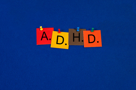 ADHD - for attention deficit hyperactivity disorder - medical sign series Stock Photo