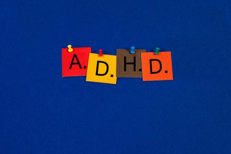 medical attention: TDAH - para el trastorno de hiperactividad por d�ficit de atenci�n - la serie m�dica de la muestra