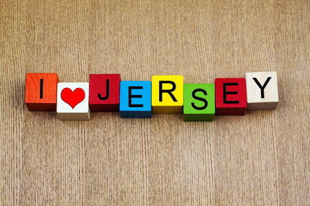 I Love Jersey, Channel Islands - sign series for travel locations and resorts photo