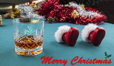 inebriated: Santa Claus - Tired and Drunk or Inebriated on Christmas Eve ! Stock Photo