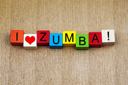 I Love Zumba - sign series for dancing and fitness photo