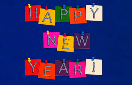 Happy New Year ! - sign for New Years Eve Celebrations photo