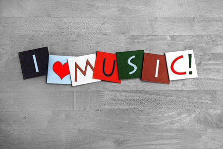 melodious: Music, sign series for music, gigs, harmony, singing, concerts and bands, in melodious colors. Stock Photo