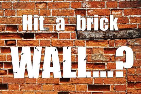 insurmountable: Brick wall business concept for mentoring or coaching: problem, challenge, solution?