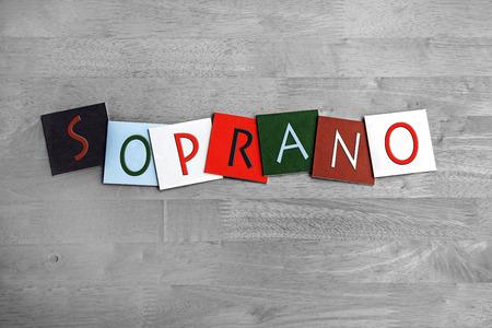 soprano: Soprano sign series Stock Photo