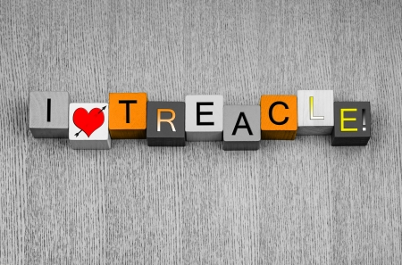treacle: I Love Treacle sign Stock Photo