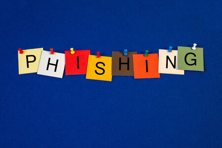 phishing: Phishing, sign series for computers, emails, internet and technology. Stock Photo