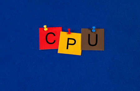 processors: CPU, sign series for computers, processors and technology. Stock Photo