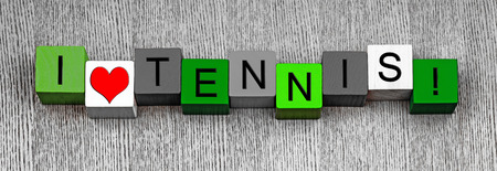 I Love Tennis, sign series for sport fans, Grand Slams & tennis, panoramic.