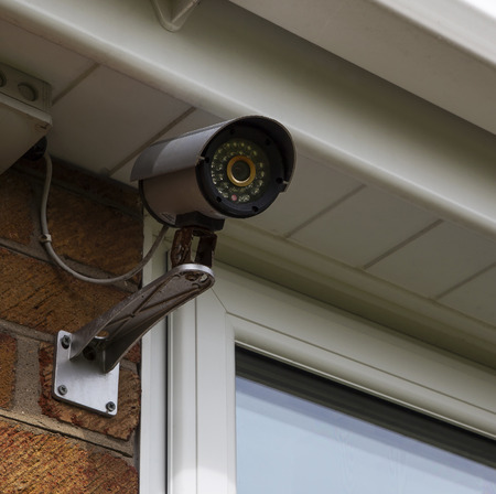 home safety: CCTV security camera for home security & surveillance.