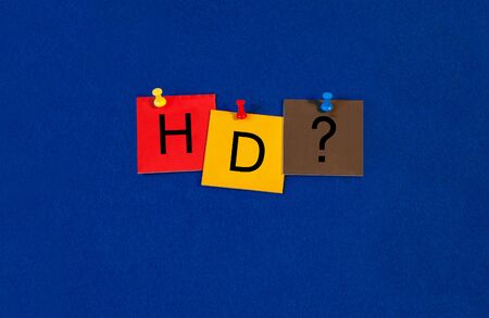 definition: HD sign for high definition digital resolution.