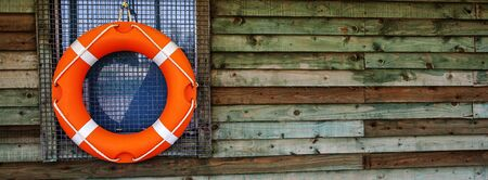 watersports: Life Ring or Life Buoy panorama  banner - for watersports and safety.