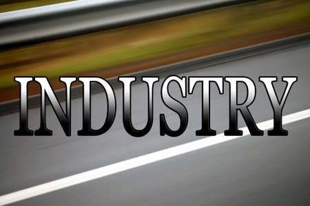 commerce and industry: Industry, business sign, banner or header for business, commerce, trade, manufacturing, mining, logistics etc