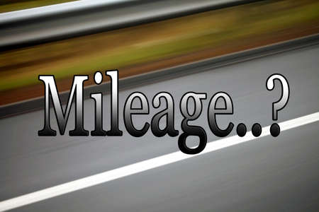 mileage: Mileage sign, for transport, car industry, vehicles, with road background.