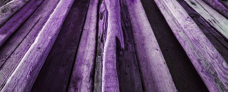 diminishing perspective: Purple driftwood background texture, panorama - wood and timber in diminishing perspective.