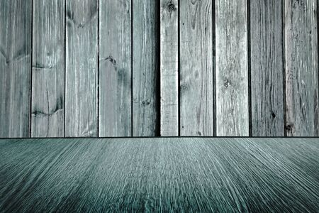 diminishing perspective: Rustic pale blue wooden backdrop, pastel background design, wood floor with diminishing perspective  blur  motion effect.