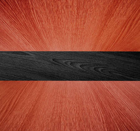 diminishing perspective: Wooden backdrop, wood in diminishing perspective - red and black background texture, motion  blur effect on ceiling and floor.