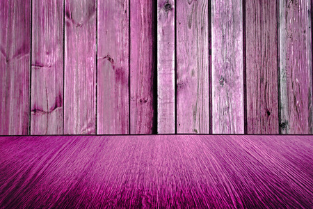 diminishing: Rustic pink  purple wooden backdrop, pastel background design, wood floor with diminishing perspective  blur  motion effect. Stock Photo