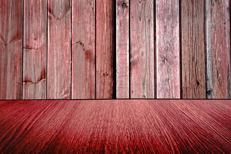 diminishing: Rustic red wooden backdrop, pastel background design, wood floor with diminishing perspective  blur  motion effect.